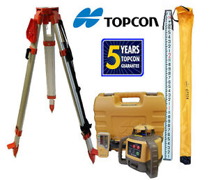 New Topcon Rl h5a Db Rotating Laser Level Plus 13 Ft 10ths inch Rod