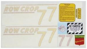 New Vinyl Cut Yellow Complete Decal Set For Oliver Tractor 77 Row Crop