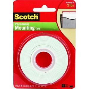 6 Pk 3m Scotch 1 2 X 75 Self sticking Adhesive Holding Mounting Tape 110dc
