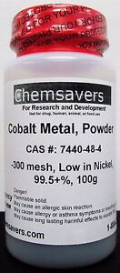 Cobalt Metal Powder 300 Mesh Low In Nickel 99 5 100g