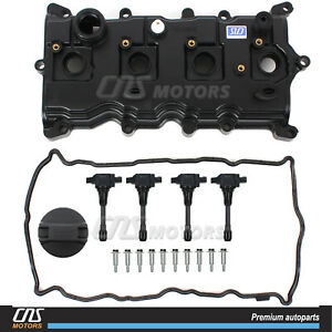 Engine Valve Cover W Gasket Bolts Ignition Coil For 08 12 Nissan Rogue