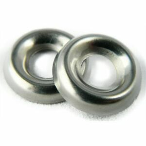 Stainless Steel Cup Washer Finishing Countersunk 8 Qty 2500