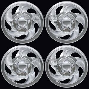 4 Chrome F150 Expedition 16 Wheel Skins Hub Caps Rim Covers Center Lug Nut Hubs