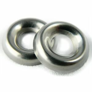 Stainless Steel Cup Washer Finishing Countersunk 3 8 Qty 25