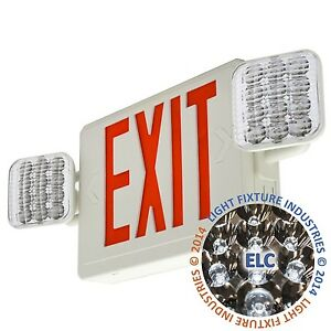 Red All Led Exit Sign Emergency Light Remote Capable Combo Comborrh2
