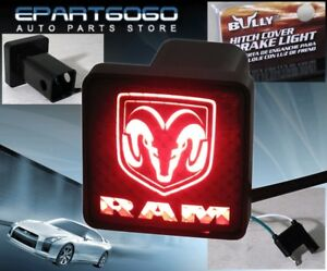 Bully Rear 2 Trailer Towing Hitch Receiver Cover Logo Brake Light For Dodge