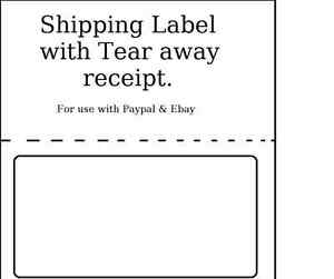 1500 Shipping Labels With Tear Off Receipt Usa Made Use For Paypal