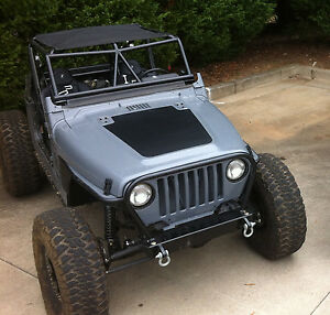 Jeep Blackout Hood Decal Textured Black Out W Install Kit Fit Wrangler Tj 97 06