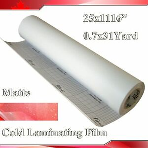 0 69x31yard 3mil Matte Frosted Vinyl Cold Laminating Film Laminator