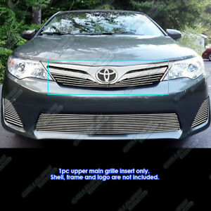 Fits 2012 2014 Toyota Camry Main Upper Billet Grille Grill Insert