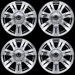 4 Chrome 2010 16 Cadillac Srx 18 Full Wheel Skins Hub Caps Center Rim Covers