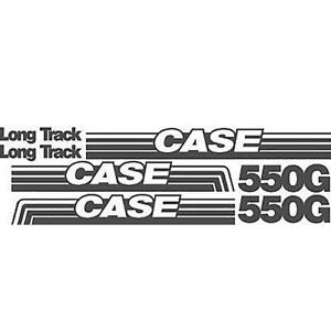 Long Track Crawler Dozer Decal Set Made To Fit Case 550g