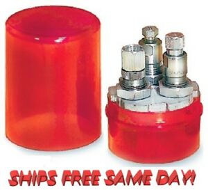 Lee Precision * THREE Die Turret Storage Container (ONLY) Red # 90535 New