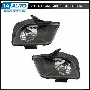 Headlights Headlamps Left Right Pair Set For 07 09 Ford Mustang