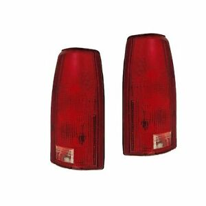 Pair Tail Light Lens Only Driver Passenger Side Fits 88 98 Chevrolet Pickup