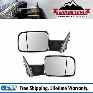 Trail Ridge Towing Mirror Manual Chrome Pair Set Of 2 For 09 12 Ram Pickup New
