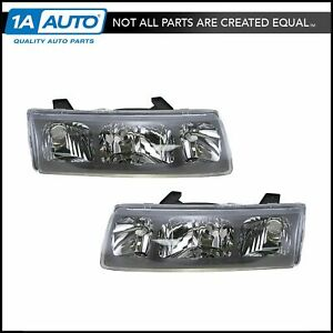 Headlights Headlamps Left Right Pair Set New For 02 04 Saturn Vue