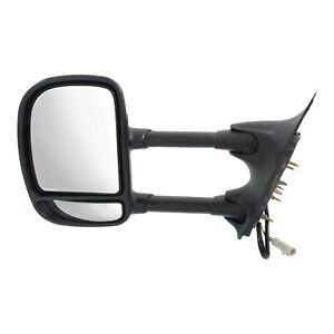 Tow Mirror For 1999 2001 Ford F 250 Super Duty Driver Side Power Blind Spot