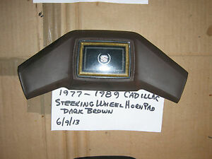 1977 1989 Cadillac Horn Ring drk Brown horn fleetwood deville steerng Whl Center