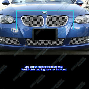 Fits 2007 2010 Bmw 3 Series Coupe Only Stainless Steel X Mesh Grille Insert
