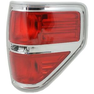 Tail Light For 2011 2013 Ford F 150 Xl Rh Red Lens Dot Sae Compliant