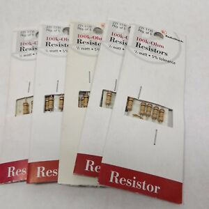 Radio Shack 271 1131 100k ohm Resistor 1 2 Watt 5 Tolerance 5 Pack X 5 25