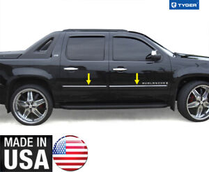 Tyger For 07 09 Chevy Avalanche suburban Body Side Molding Trim Top 1 Wide 4pc
