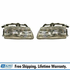 Front Headlamps Headlights Lights Left Lh Right Rh Pair Set For 90 91 Civic
