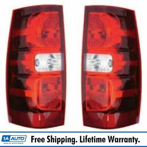 Rear Brake Lights Lamps Taillights Taillamps Pair Set For 07 13 Tahoe Suburban