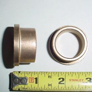 2 Ea Flanged Bronze Bushings 1 Id X 1 25 Od X 3 4 L