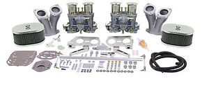 Empi Vw Deluxe Dual 44 Hpmx Type 1 Carb Kits With Chrome Air Cleaners 47 8319