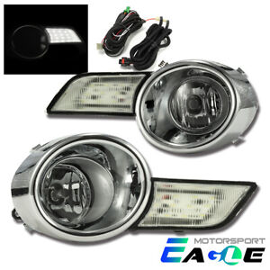 For 2008 2009 2010 Toyota Highlander Euro Style Led Clear Fog Lights Lamps Pair