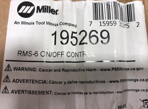 Miller 195269 Rms 6m On off Control For Maxstar 150 Sth 150 Stl