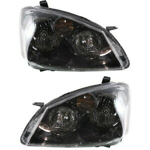 Headlight Set For 2005 2006 Nissan Altima Left And Right Hid 2pc