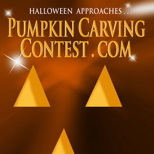 Pumpkincarvingcontest com Web com Premium Internet Domain Name Halloween Horror