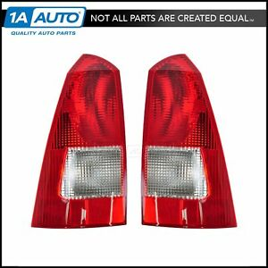 Taillight Taillamp Pair For Ford Focus Wagon 00 05 06 07