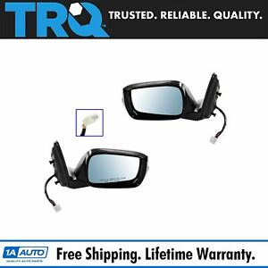 Mirrors Power Heated Memory Turn Signal Blue Tint Pair Set For 10 13 Mdx