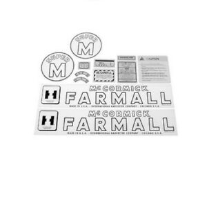 Fa605sb Case Ih Mccormick Farmall Super M Tractor Hood Decal Set