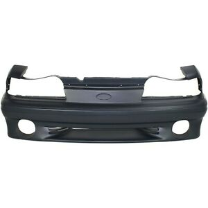 Front Bumper Cover For 87 93 Ford Mustang W Fog Lamp Holes Primed
