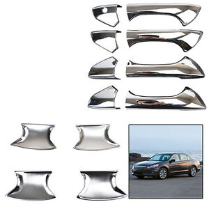 Fit For Honda Accord 2008 2009 2010 2011 2012 Chrome Door Handle Bowl Cover Trim
