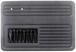 Empi Vw Air Cooled Bug 1958 64 Black 4 Piece Door Panel Kit With Pockets 4852