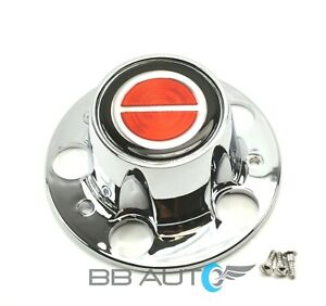 Ford Ranger Bronco Ii Explorer Chrome Wheel Hub Center Cap Red Center Emblem New