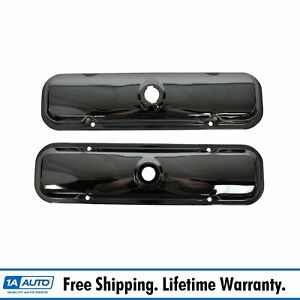 Chrome Valve Covers Pair Set For Pontiac Bonneville Gto Grand Prix