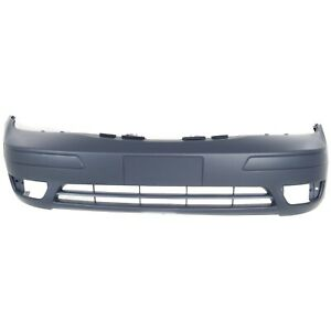 Front Bumper Cover For 2005 2007 Ford Focus W Fog Lamp Holes Primed