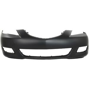 Front Bumper Cover For 04 06 Mazda 3 Sedan W Fog Lamp Tow Hook Holes Std Type