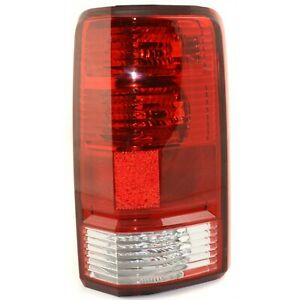 Halogen Tail Light For 2007 2011 Dodge Nitro Right Clear Red Lens