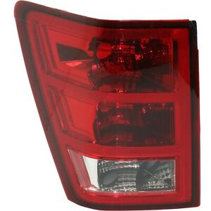Halogen Tail Light For 2005 2006 Jeep Grand Cherokee Left Clear Red Lens
