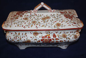 Antique Ridgway England Ironstone Persia Rectangular Lided Tureen Luster Sale
