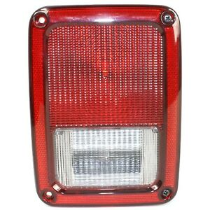 Halogen Tail Light For 2007 2017 Jeep Wrangler Jk Right Clear Red Lens W Bulbs