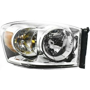 Headlight For 2007 2009 Dodge Ram 1500 Ram 2500 Passenger Side W Bulb